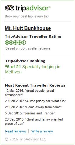 Trip Advisor - Mt Hutt Bunkhouse
